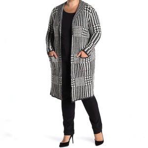 Sweaters - JOSEPH A Plaid Print Hooded Long Cardigan!